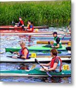 Burton Canoe Race At The Start Metal Print