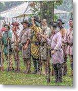 Bushy Run Milita Camp Roll Call Metal Print by Randy Steele