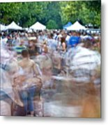 Bustle In The Market Metal Print