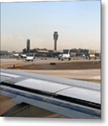 Busy Day At Sky Harbor Metal Print