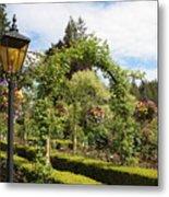 Butchart Gardens Arches Metal Print
