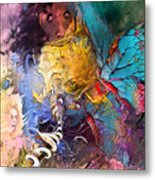 Butterfly Mind Metal Print