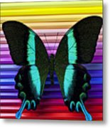Butterfly On Colored Pencils Metal Print by Garry Gay