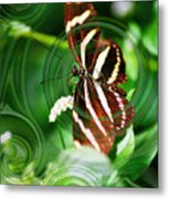 Butterfly Overlay Metal Print