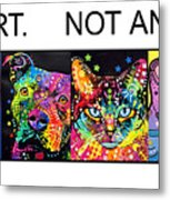 Buy Art Not Animals Metal Print by Dean Russo