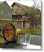 By The Old Mill Stream Metal Print by Larry Bishop