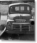 Bygone Dodge In Black And White Metal Print