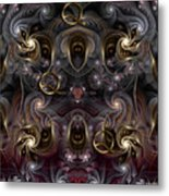 Cabalistic Symmetry Of Q Metal Print