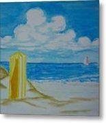 Cabana On The Beach Metal Print