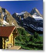 Cabin At Mt Assiniboine Lodge, Mt Metal Print