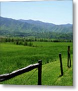 Cades Cove View Metal Print
