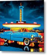 Cadillac Diner Metal Print by MGL Studio - Chris Hiett