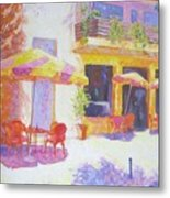 Cafe In Spain Metal Print