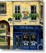 Cafe Van Gogh Metal Print