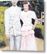Caits Mom And Dad Metal Print