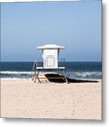 California Lifeguard Tower Photo Metal Print