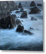California Rocky Coastline Metal Print