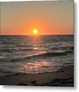 California Sunset Pacific Ocean Davenport  Metal Print