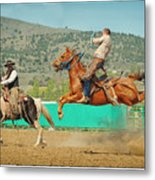 Californios Burns Ranch Bronc 2012 Metal Print