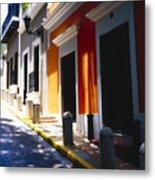 Calle Del Sol Old San Juan Puerto Rico Metal Print by George Oze