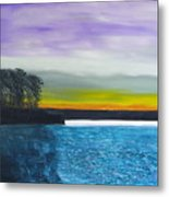 Calm River At Dusk Metal Print