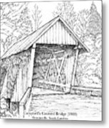 Campbell's Covered Bridge Metal Print