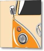 Camper Orange Metal Print by Michael Tompsett