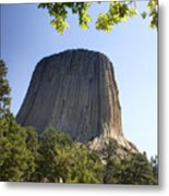 Can You Find The Climbers On Devils Tower Wyoming -1 Metal Print