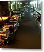 Canal In Venice At Night Metal Print