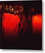 Candle Reflected Metal Print by Barry Shaffer