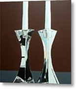 Candlesticks Metal Print