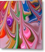 Candy Melt Metal Print