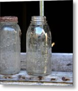 Canning Jars Metal Print