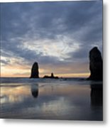 Cannon Beach At Sunset 5 Metal Print