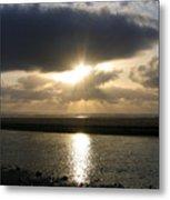 Cannon Beach Sunburst Metal Print