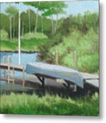 Canoe Dock Metal Print
