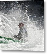 Canoeists -river Runners 2012 Metal Print