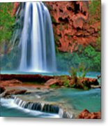 Canyon Falls Metal Print by Scott Mahon