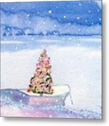 Cape Cod Christmas Tree Metal Print