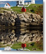 Cape Neddick Reflection - D003756a Metal Print by Daniel Dempster