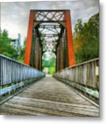Caperton Trail And Bridge Metal Print by Steven Ainsworth