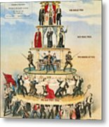Capitalist Pyramid, 1911 Metal Print by Granger