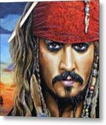Captain Jack Metal Print by Arie Van der Wijst