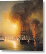 Capture Of The Fort Of Saint Jean Dulloa On 23rd November 1838 Metal Print by Jean Antoine Theodore Gudin