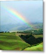 Carmel Valley Rainbow Metal Print