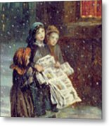 Carols For Sale  Metal Print by Augustus Edward Mulready