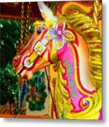 Carousel Horse London Alfie England Metal Print