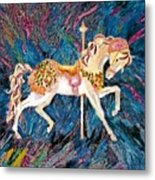 Carousel Horse With Dark Background Metal Print