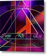 Carpe Diem Orangecross Metal Print