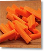 Carrot Sticks Metal Print